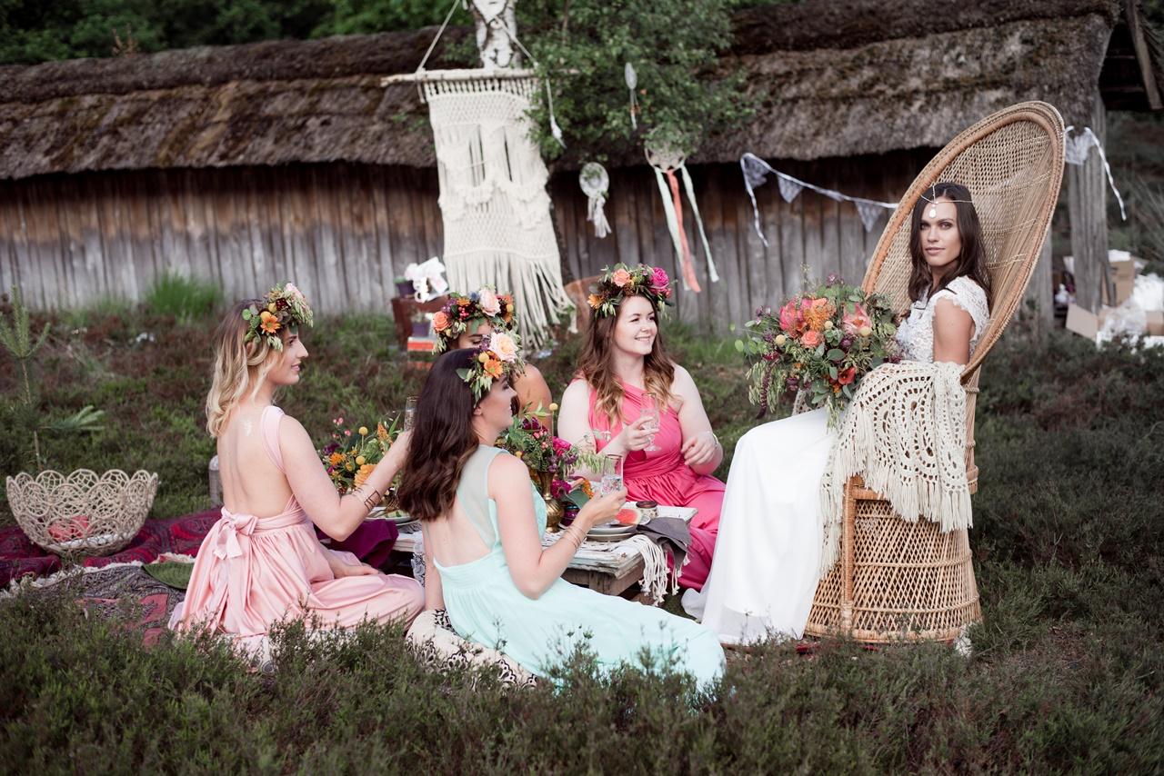 Boho Bridalparty Junggesellenabschied Brautjungfern Bridemaid