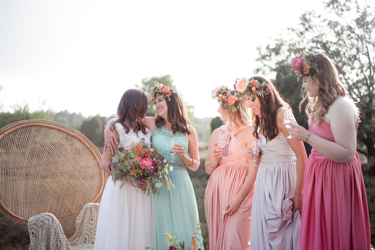 Boho Bridal Party Junggesellenabschied bei Hamburg
