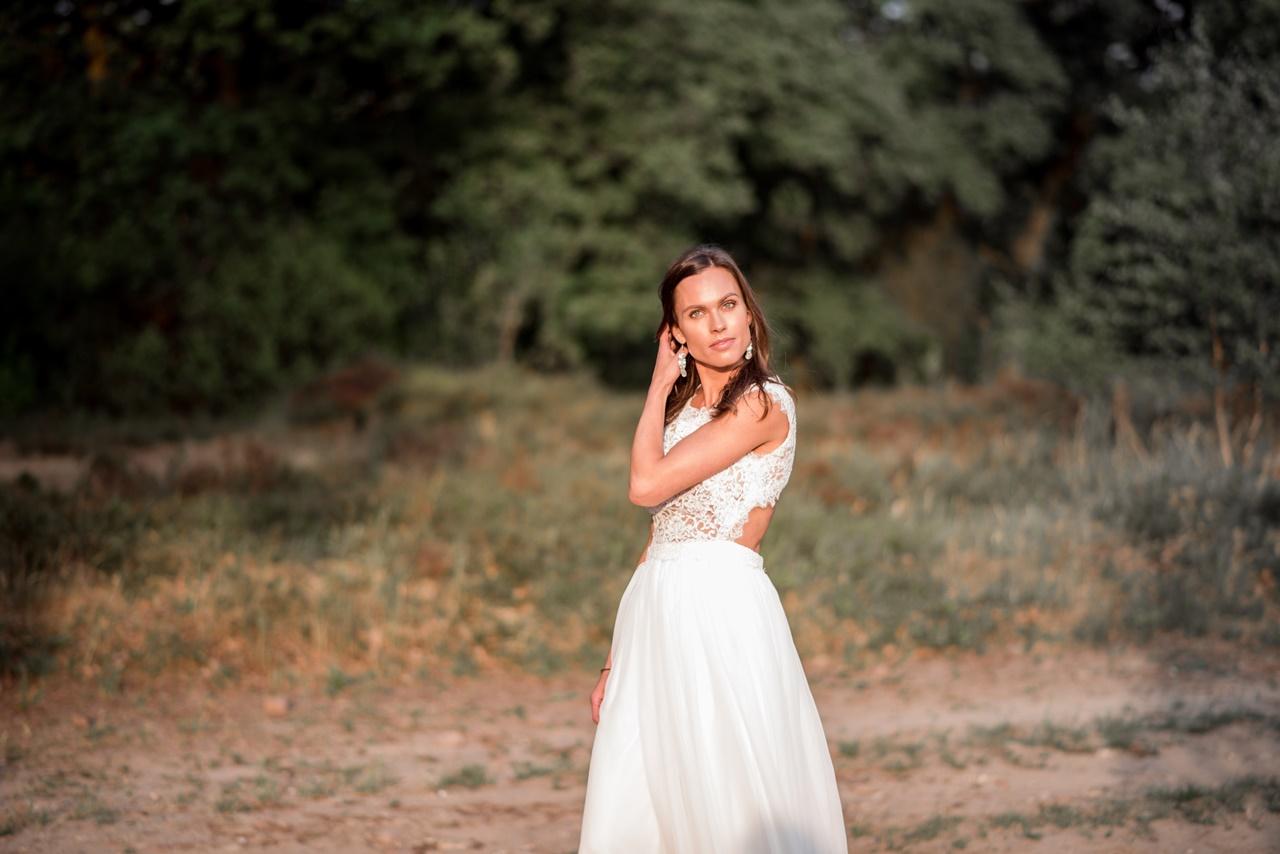 Boho beauty Braut im Brautkleid
